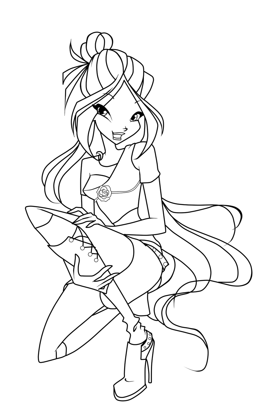 winx club coloring pages flora winx club flora charmix coloring pages sketch coloring page pages club winx flora coloring