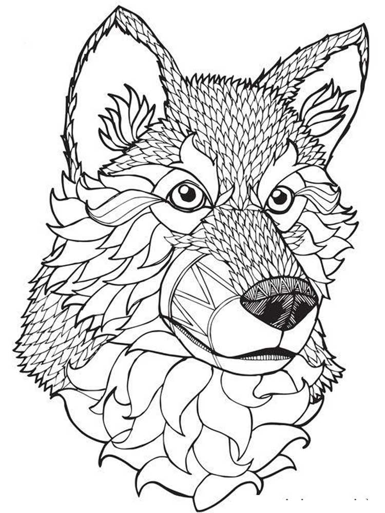 wolf coloring pages for adults 37 best adults coloring pages updated 2018 for wolf adults coloring pages