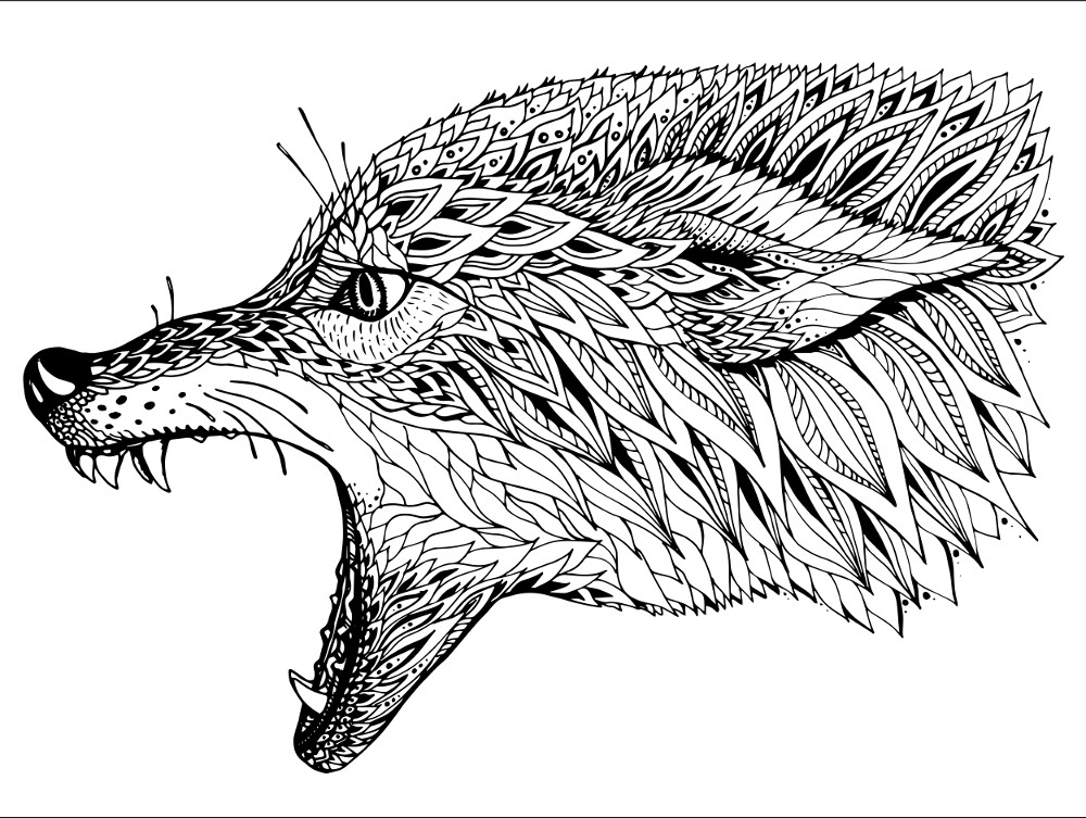 wolf coloring pages for adults detailed wolf coloring pages at getcoloringscom free coloring pages wolf for adults