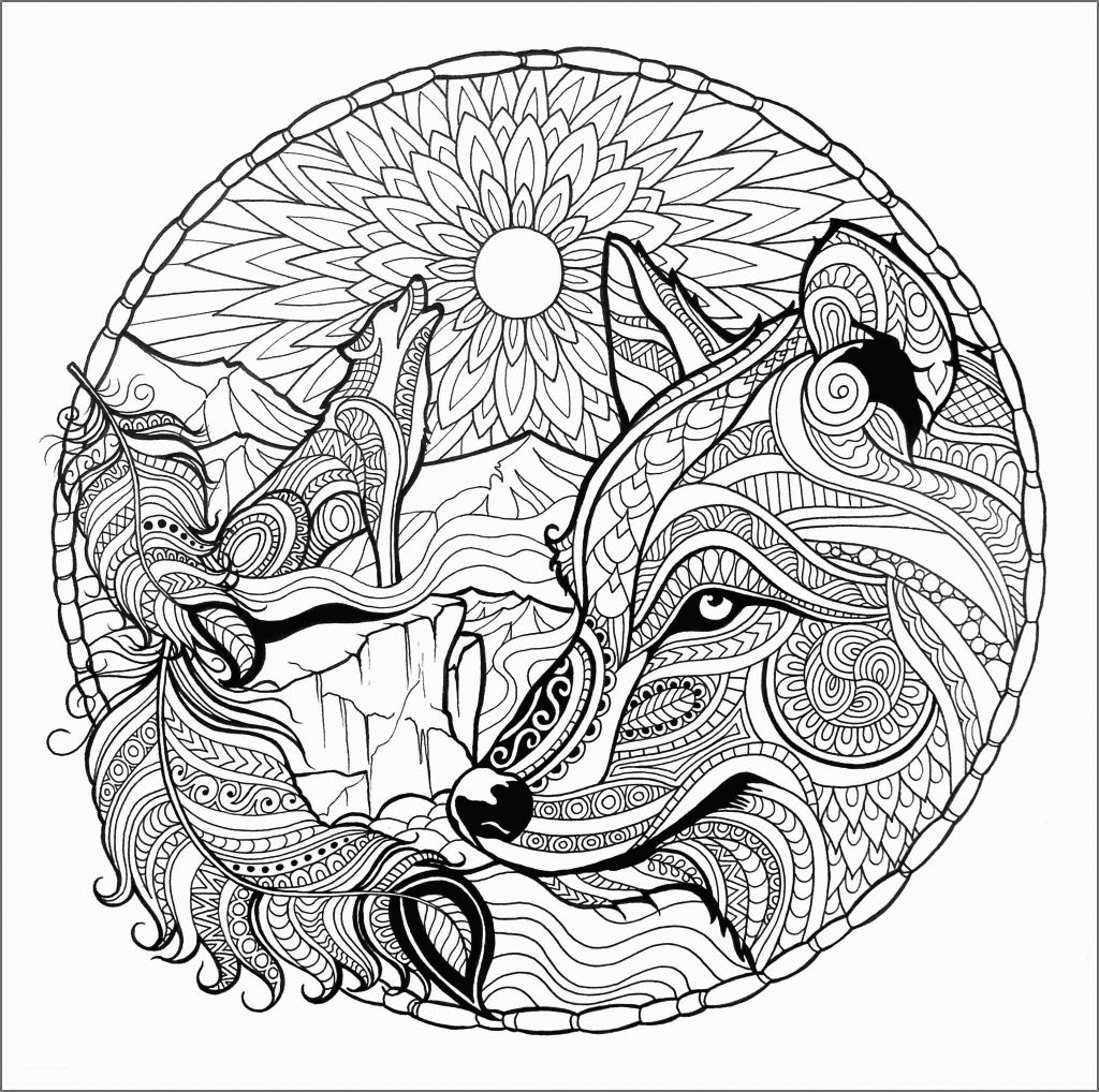 wolf coloring pages for adults fantasy wolf printable adult coloring page from favoreads pages for wolf coloring adults