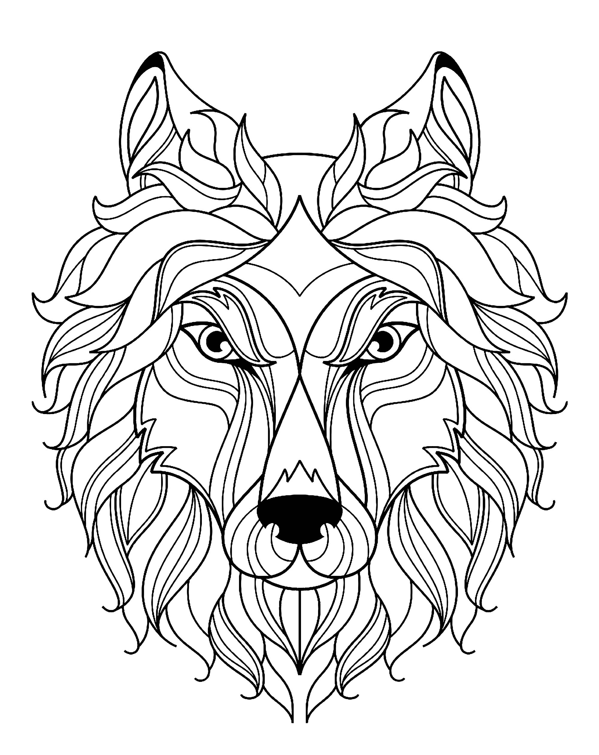 wolf coloring pages for adults free wolf coloring pages for adults printable to download adults coloring pages for wolf