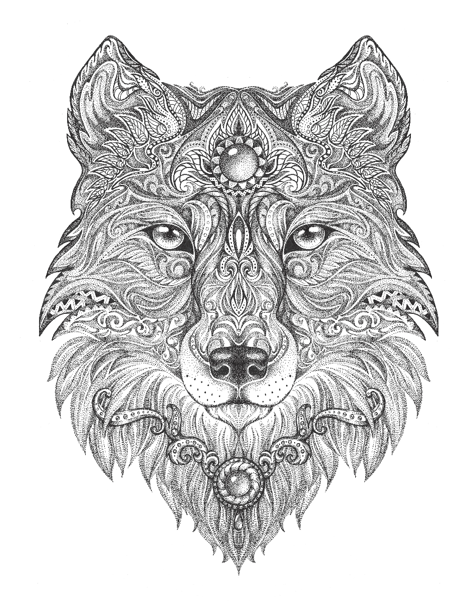 wolf coloring pages for adults free wolf coloring pages for adults printable to download pages wolf coloring for adults