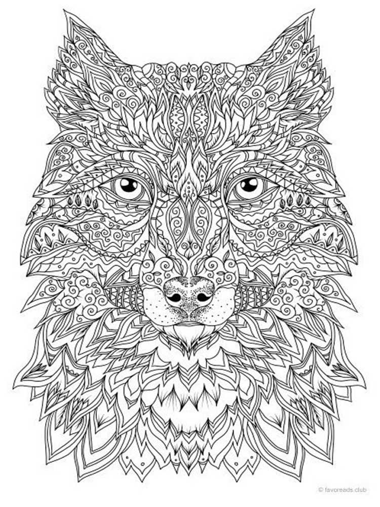 wolf coloring pages for adults free wolves coloring pages for adults animals coloring wolf coloring pages adults for