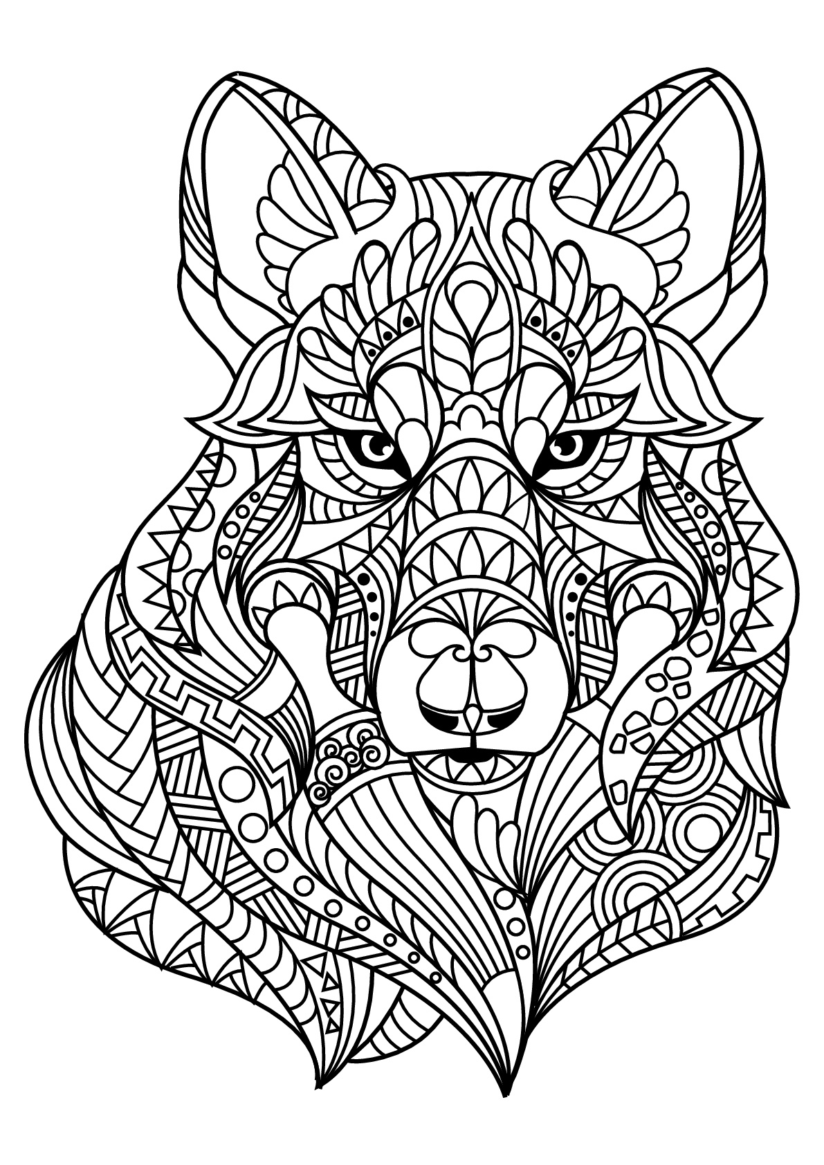 wolf coloring pages for adults get this wolf coloring pages for adults 47582 coloring pages for adults wolf
