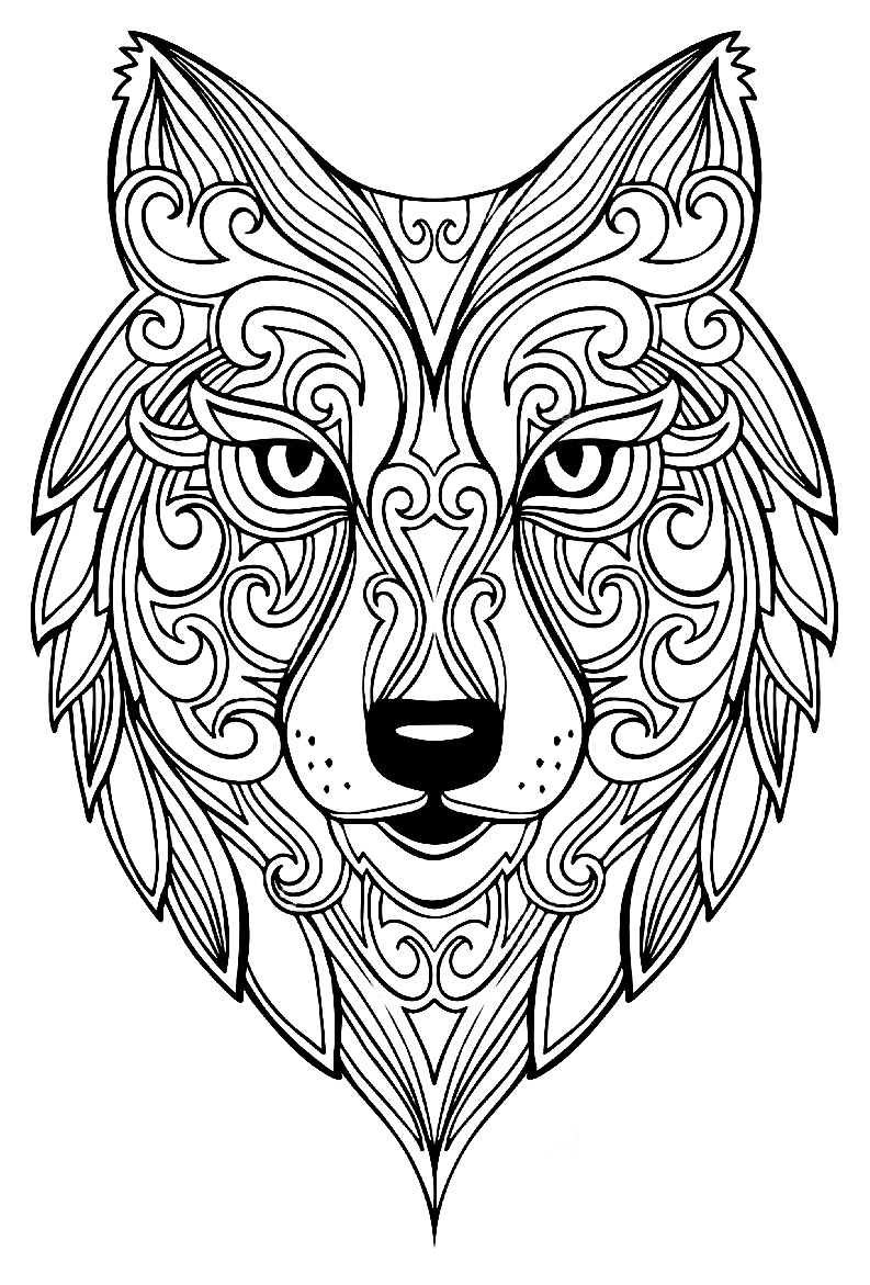 wolf coloring pages for adults incredible wolf wolves adult coloring pages adults for pages coloring wolf