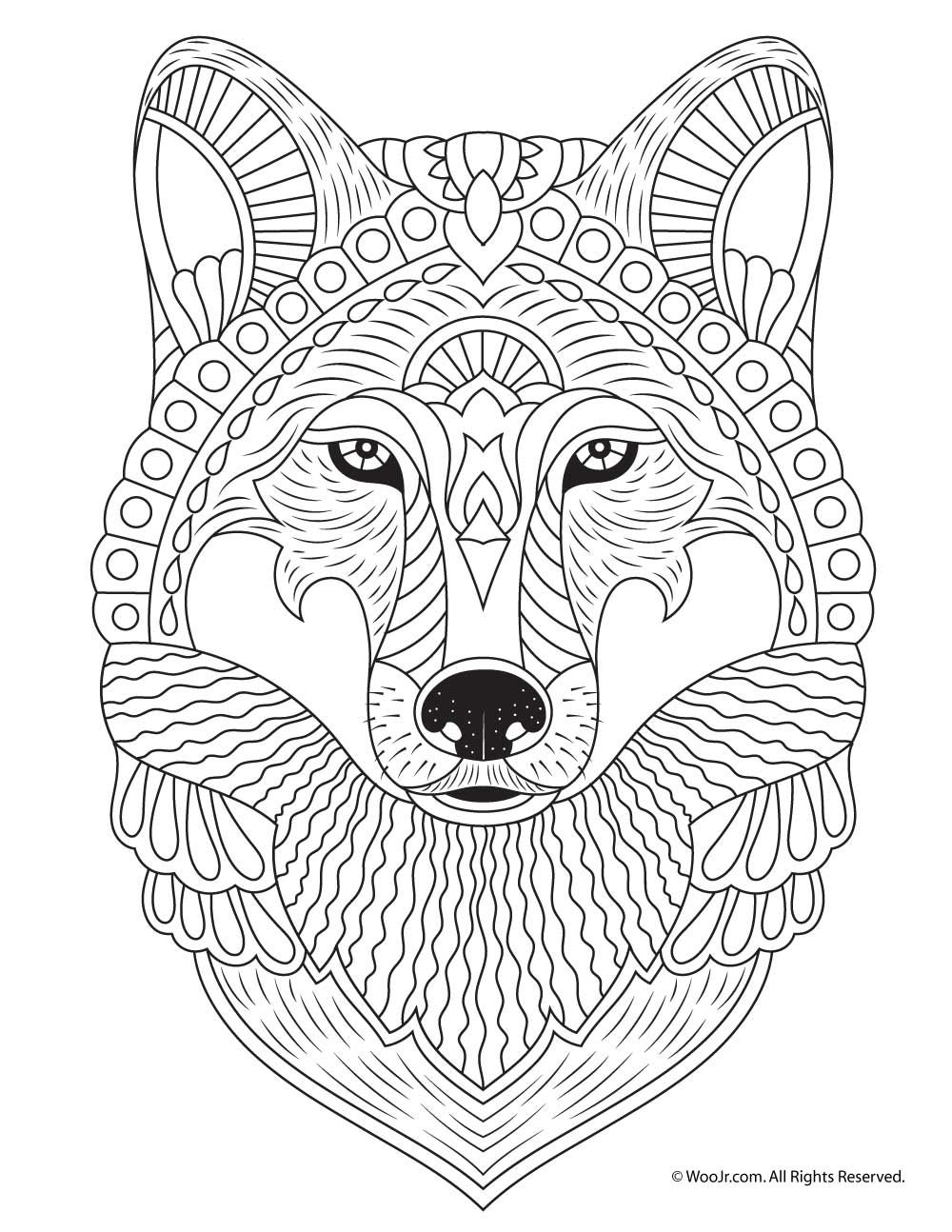 wolf coloring pages for adults print wolf for adult coloring pages animal coloring coloring adults wolf for pages