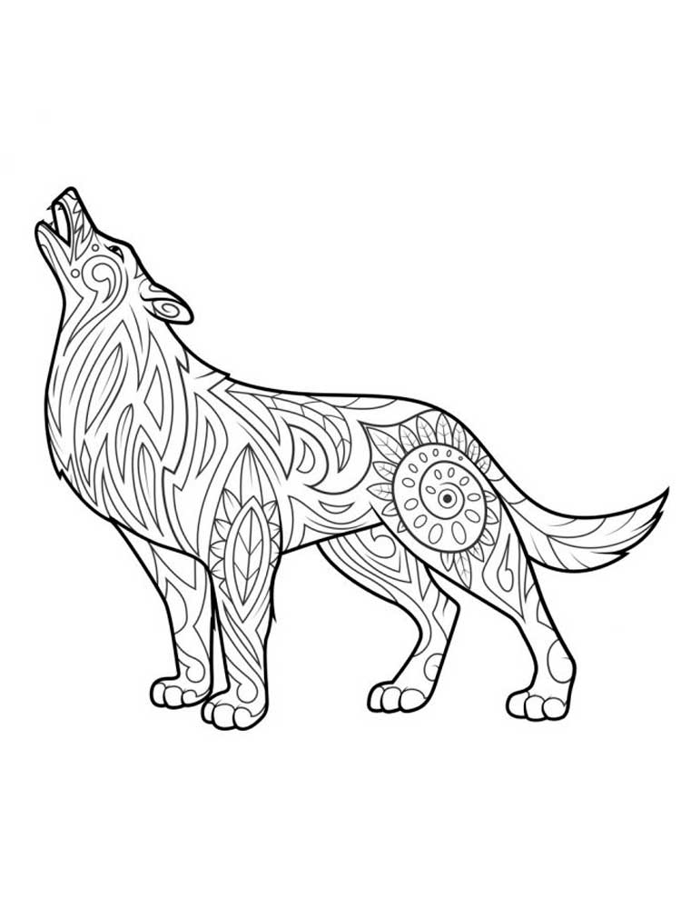wolf coloring pages for adults wolf adult coloring page animal coloring pages mandala coloring for adults pages wolf