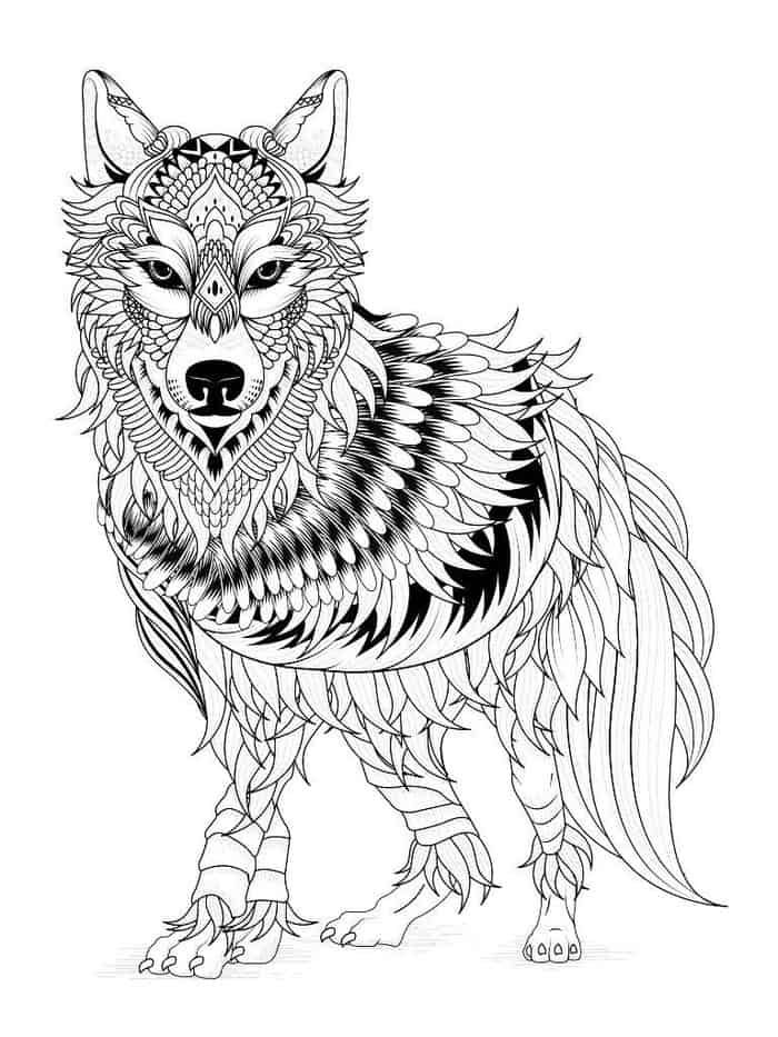 wolf coloring pages for adults wolf coloring pages for adults for pages wolf adults coloring