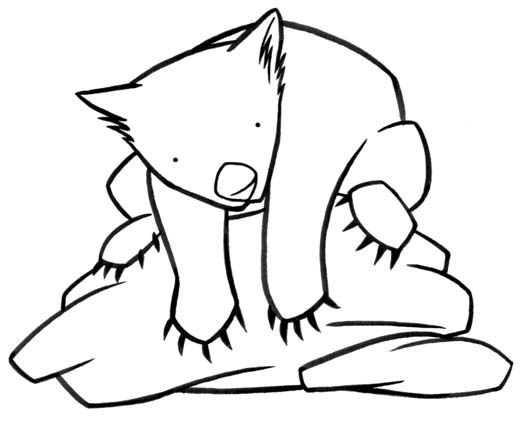 wombat colouring pages printable wombat coloring page free pdf download at http pages wombat colouring