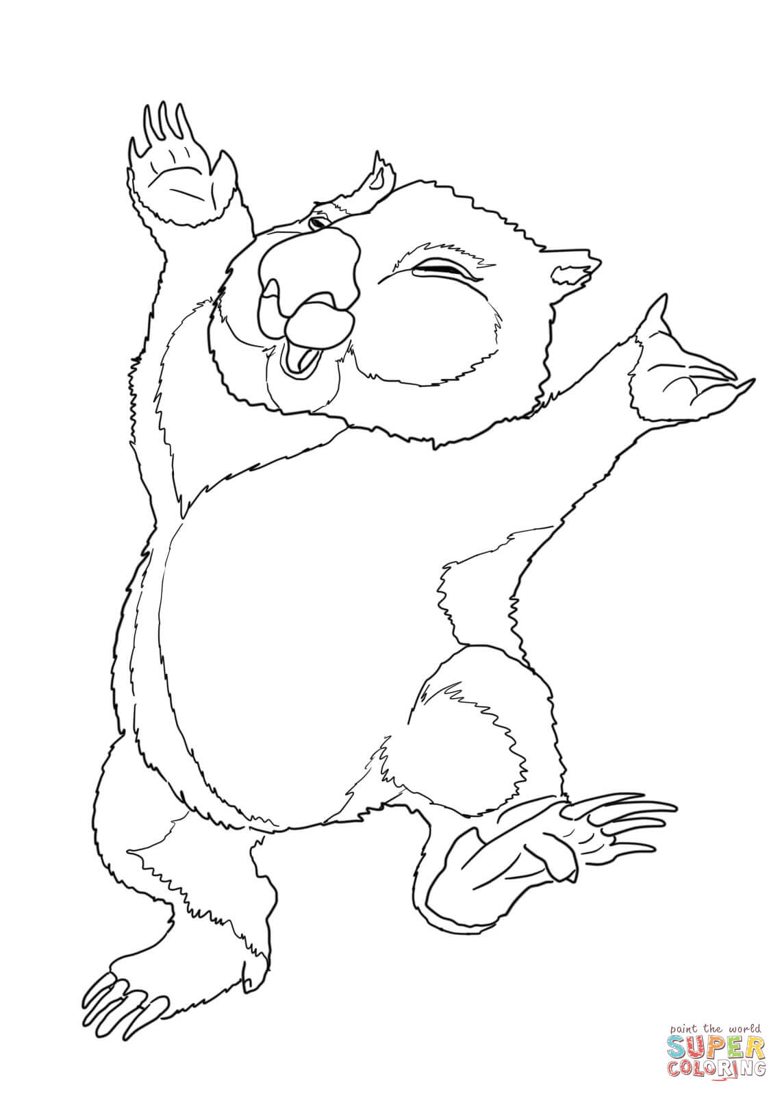 wombat colouring pages wombat coloring download wombat coloring for free 2019 pages colouring wombat