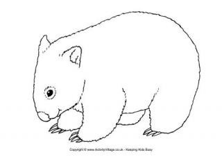 wombat colouring pages wombat coloring page coloring home wombat pages colouring