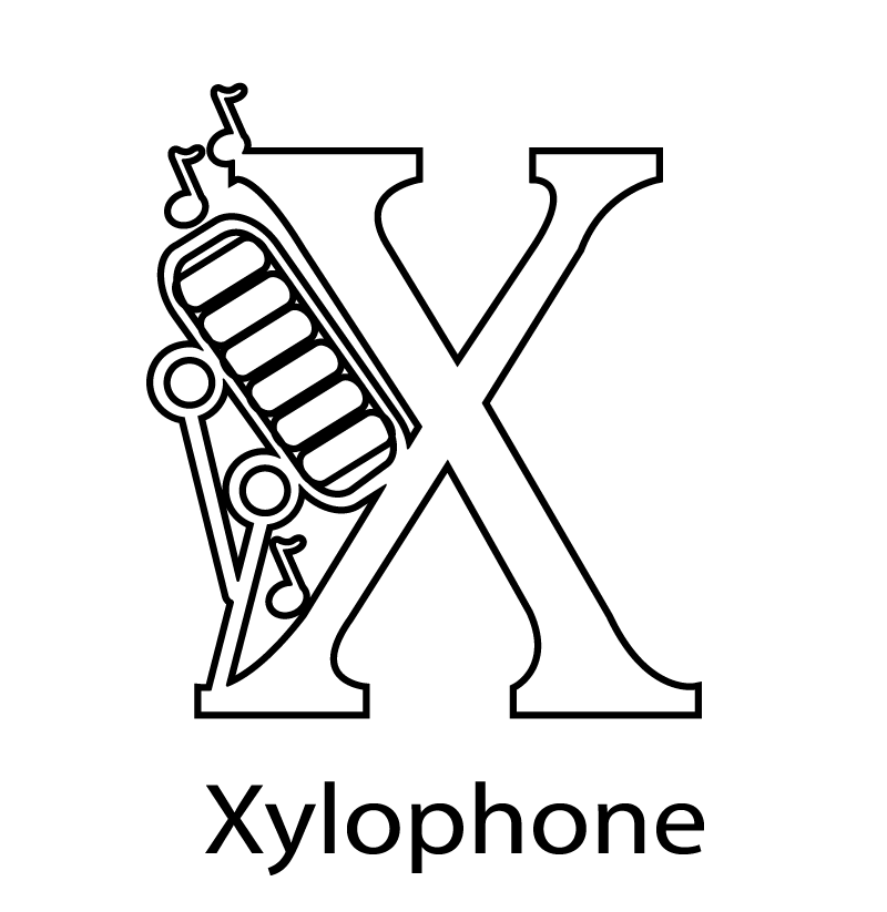 x is for xylophone coloring page 13 best dibujo images on pinterest dibujos de imagenes is for coloring page xylophone x