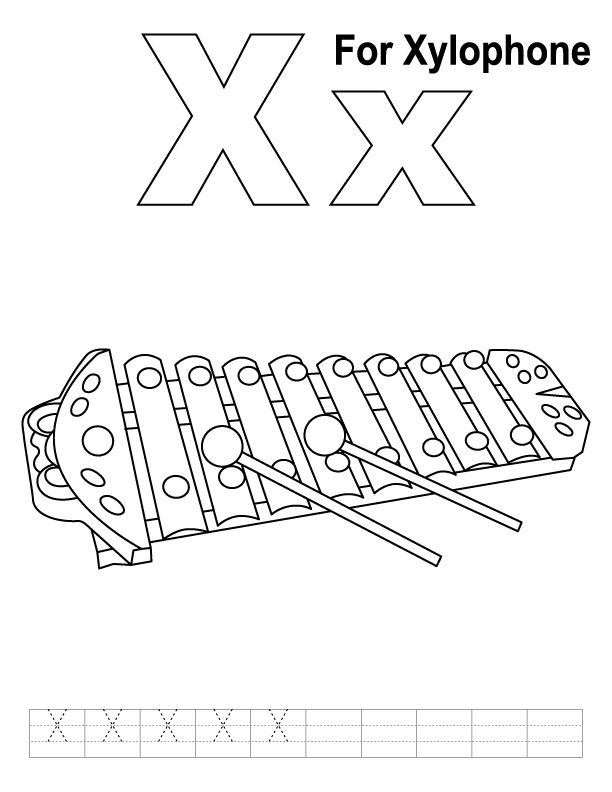 x is for xylophone coloring page 29 best alphabet book black white images on pinterest is xylophone coloring page x for