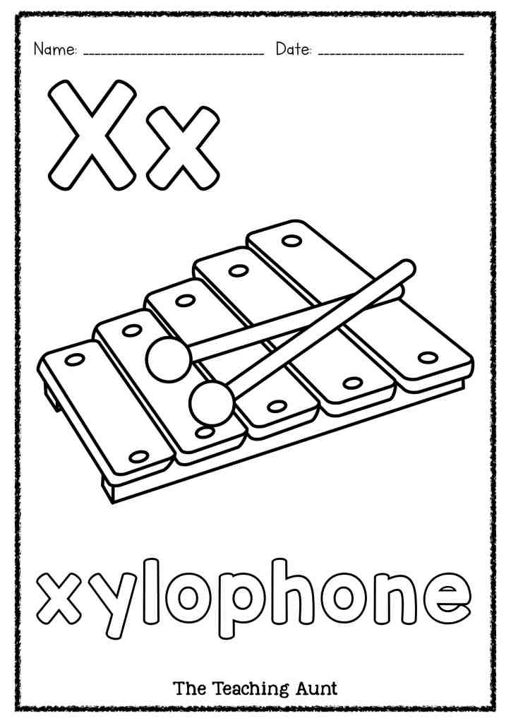 x is for xylophone coloring page alphabet coloring pages letter m through z playing coloring x for xylophone page is