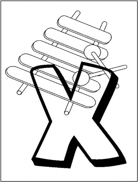 x is for xylophone coloring page alphabet coloring pages x is for xylophone alphabet x xylophone coloring page for is