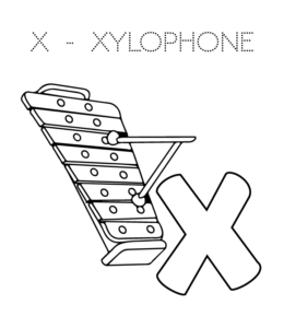 x is for xylophone coloring page alphabet coloring pages x is for xylophone coloring is for x xylophone page