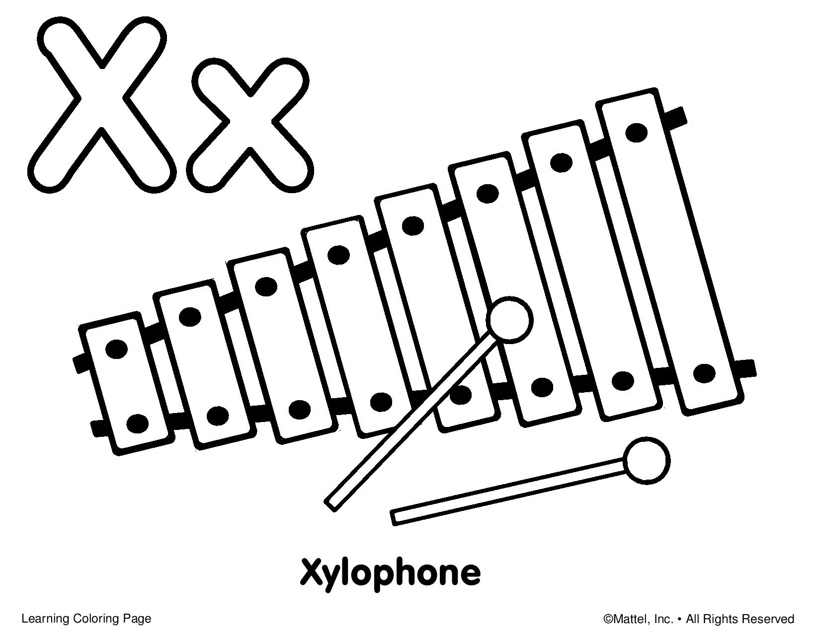 x is for xylophone coloring page learn letter x for xylophone coloring page bulk color di for page x is coloring xylophone