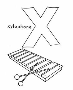 x is for xylophone coloring page learn xylophone for letter x coloring page bulk color di xylophone is coloring for x page