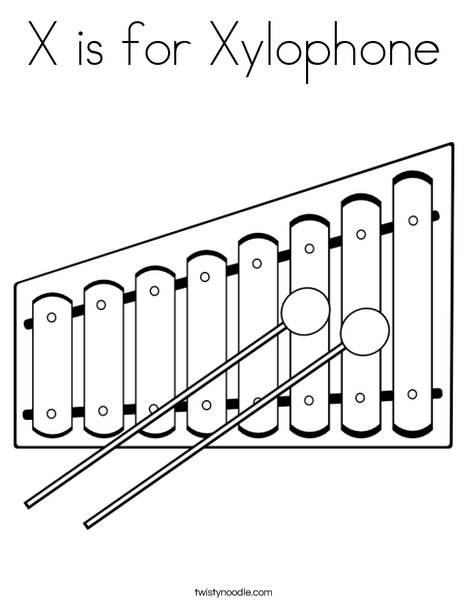 x is for xylophone coloring page x is for xylophone art and craft the teaching aunt for page coloring x is xylophone