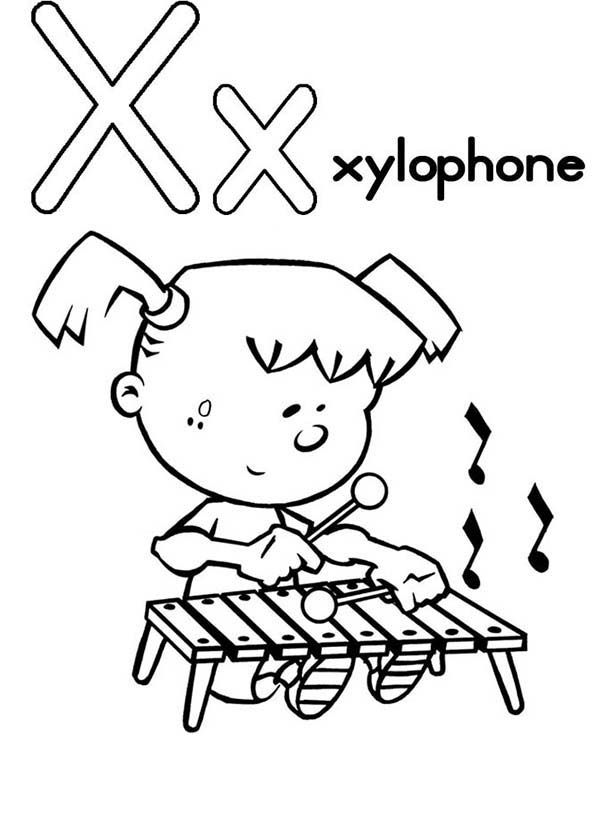 x is for xylophone coloring page x xylophone alphabet coloring alphabet printable coloring is coloring x xylophone for page