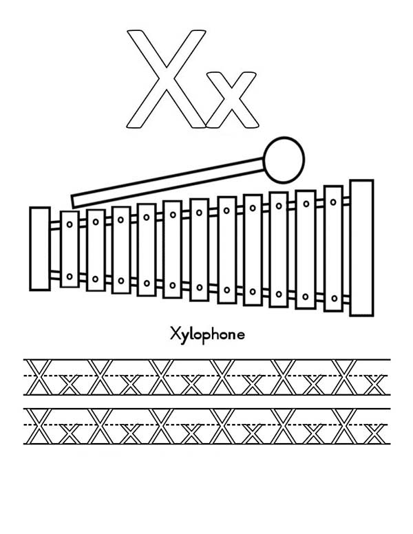 x is for xylophone coloring page xylophone and x ray for learning letter x coloring page coloring for x is xylophone page