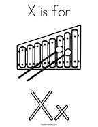 x is for xylophone coloring page xylophone coloring page coloring home xylophone x page for is coloring