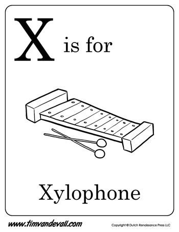 x is for xylophone coloring page xylophone coloring pages learny kids xylophone is coloring for page x