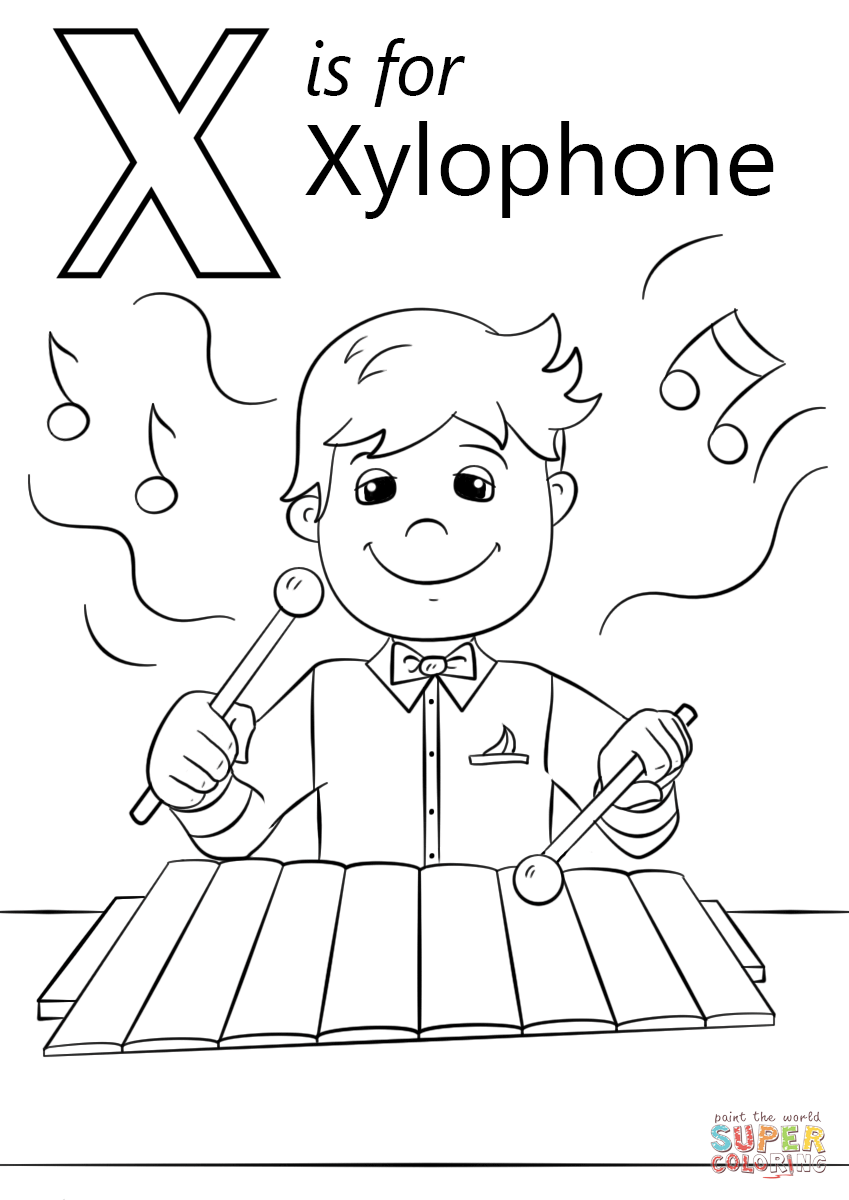 x is for xylophone coloring page xylophone pages coloring pages for is x coloring page xylophone