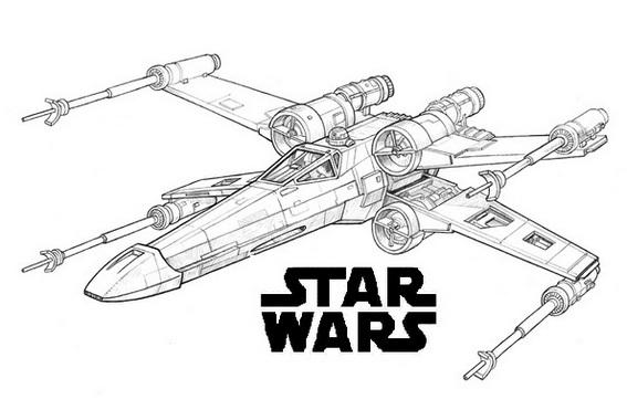 X wing coloring page