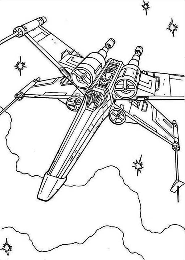 x wing coloring page x wing fighter in star wars coloring page download coloring x wing page
