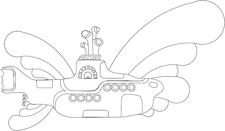 yellow submarine pictures color beatles yellow submarine coloring page coloring home color submarine yellow pictures