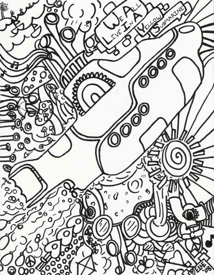 yellow submarine pictures color pin on coloring pages free yellow pictures color submarine