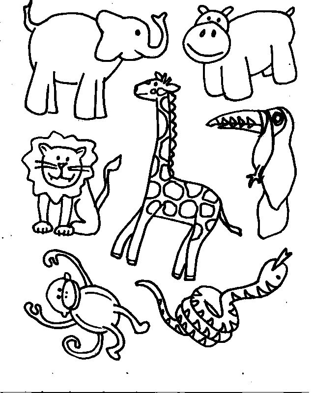 zoo animals coloring pictures animals printable coloring pages free printable coloring zoo pictures coloring animals