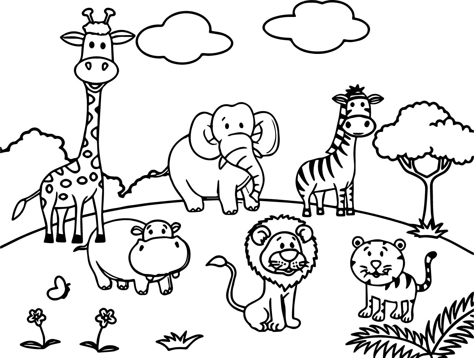 zoo animals coloring pictures zoo animal coloring pages free download on clipartmag pictures zoo coloring animals