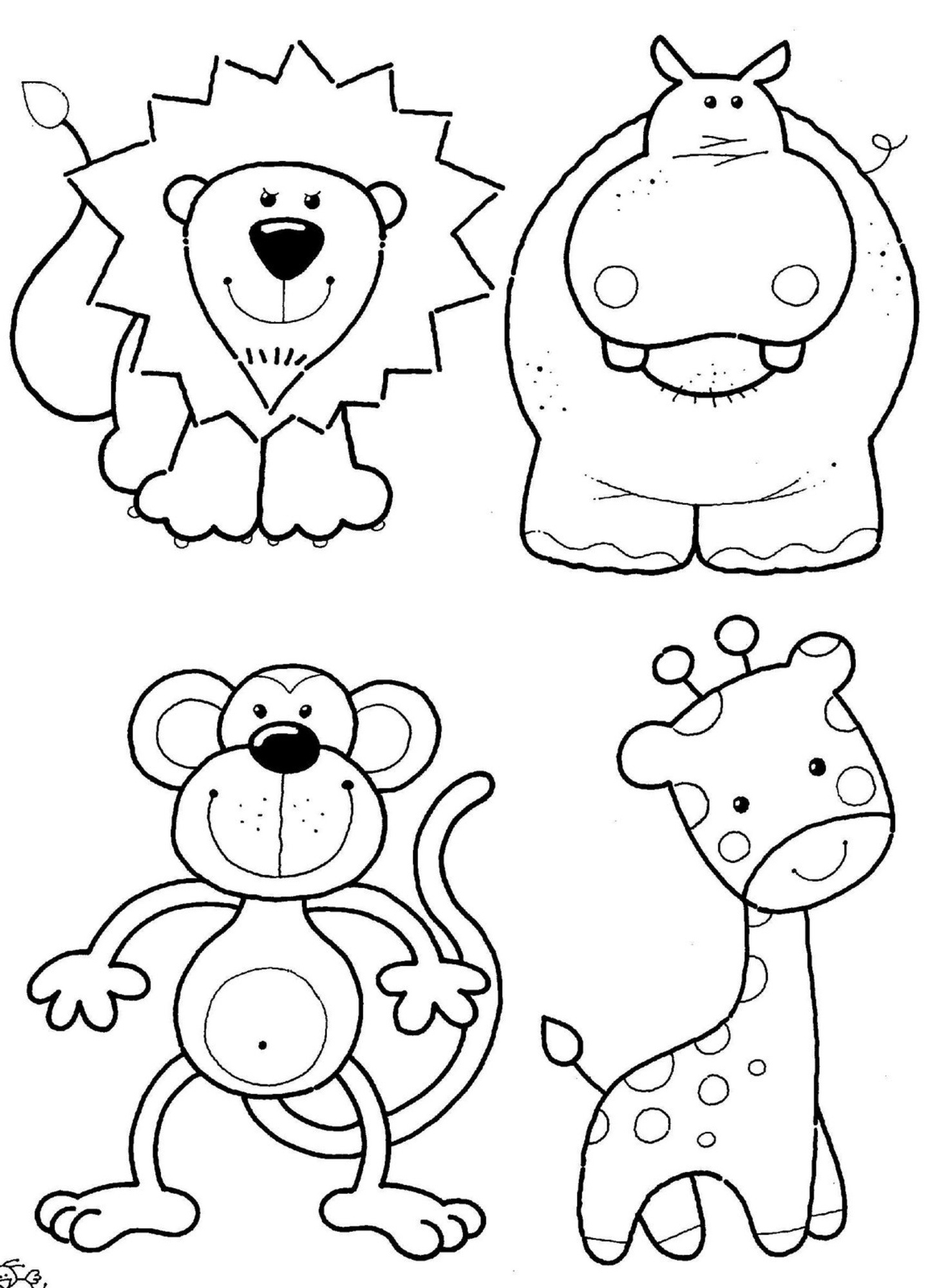 Zoo animals coloring pictures