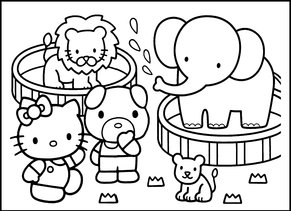 zoo animals coloring pictures zoo animals kids coloring pages with free colouring coloring zoo pictures animals