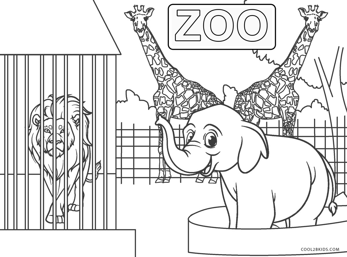 zoo coloring free printable zoo coloring pages for kids zoo coloring