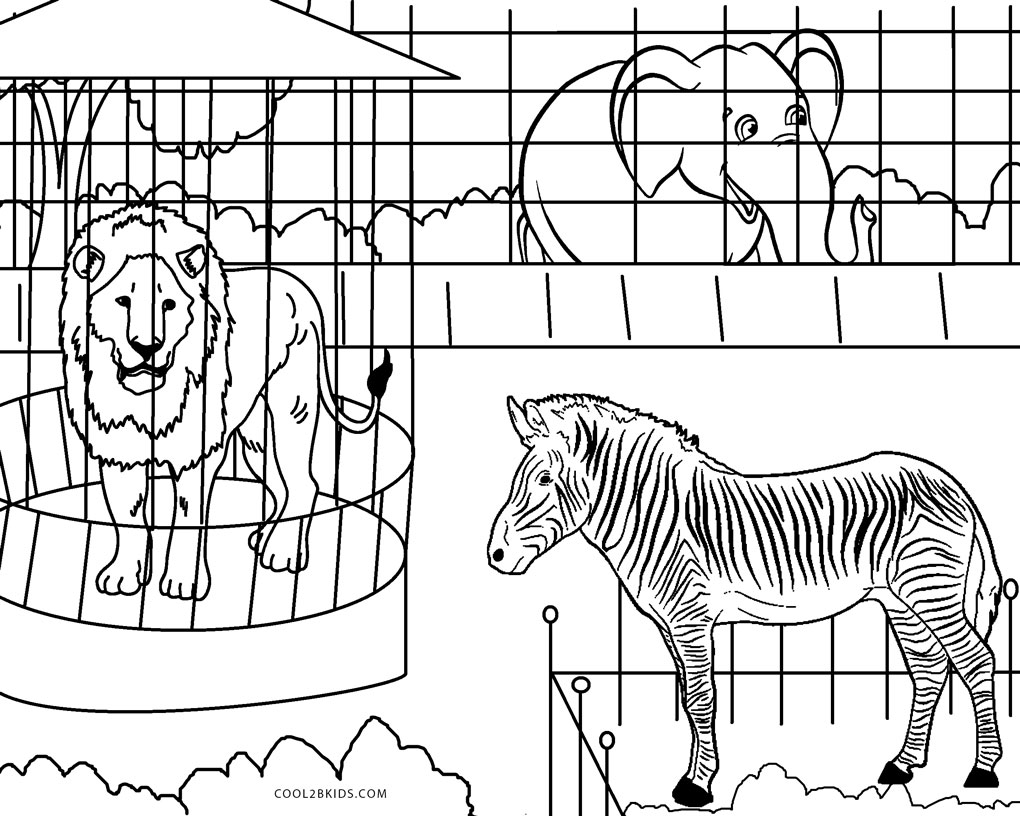 zoo coloring free printable zoo coloring pages for kids zoo coloring 1 1