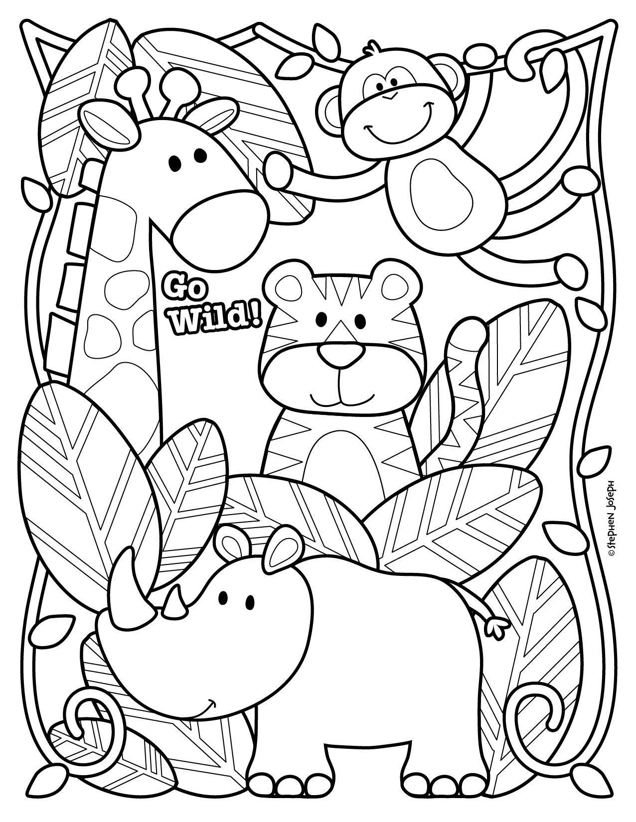 Zoo coloring pictures for preschool