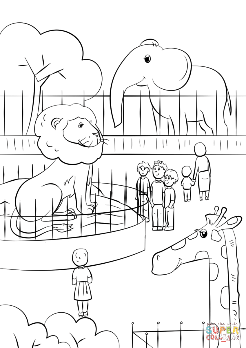 zoo coloring zoo animals coloring page free printable coloring pages zoo coloring