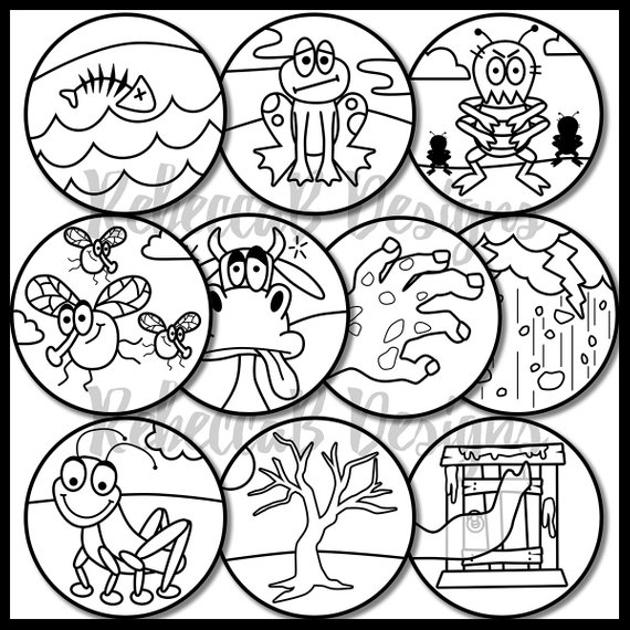 10 plagues of egypt coloring pages moses coloring pages moses plagues ten plagues bible of egypt plagues pages 10 coloring