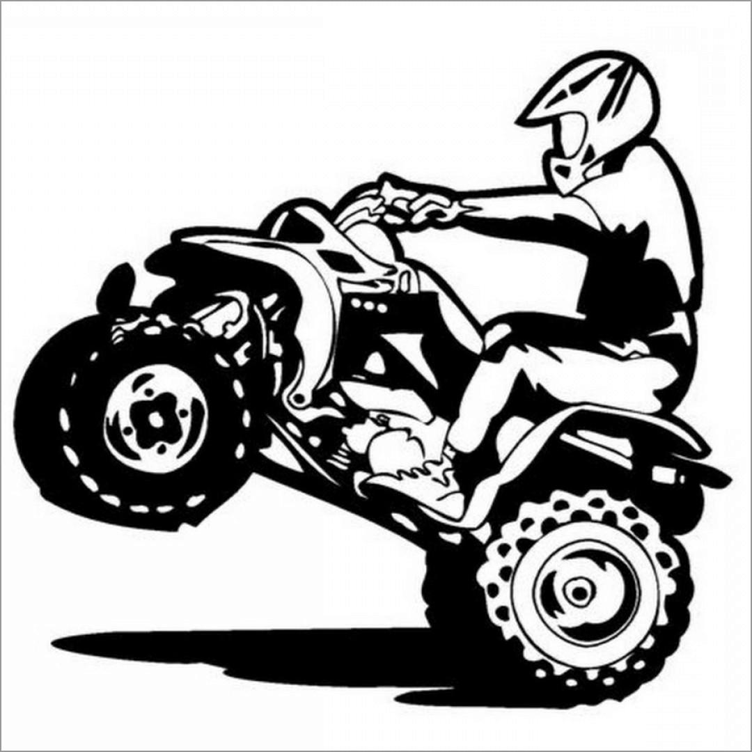 4 wheeler coloring pages atv coloring pages at getcoloringscom free printable 4 coloring wheeler pages