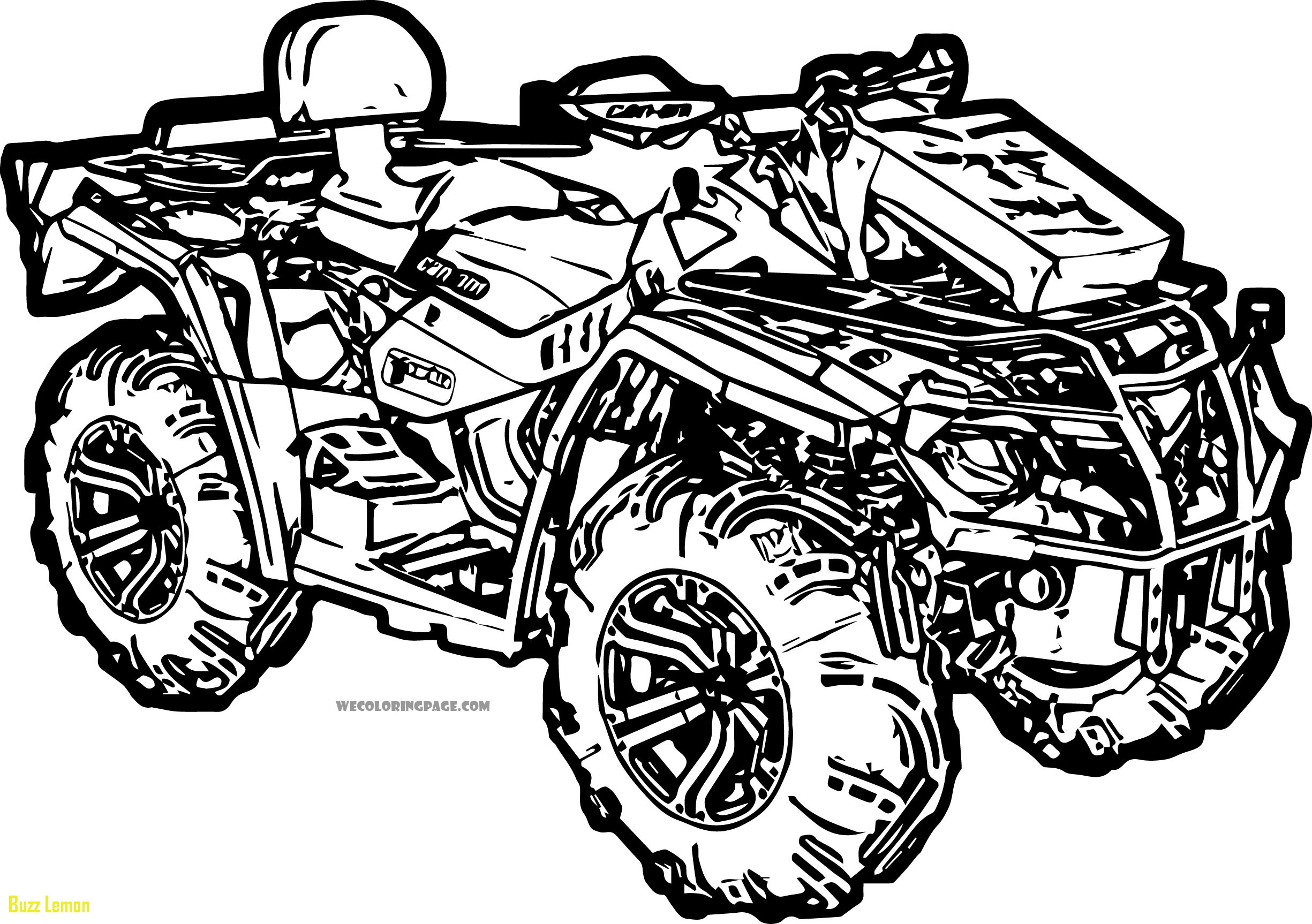 4 wheeler coloring pages coloring four wheelers clip art sketch coloring page 4 pages wheeler coloring