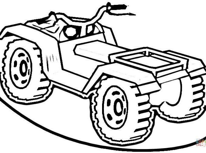 4 wheeler coloring pages how to draw a four wheeler clipartsco wheeler pages 4 coloring