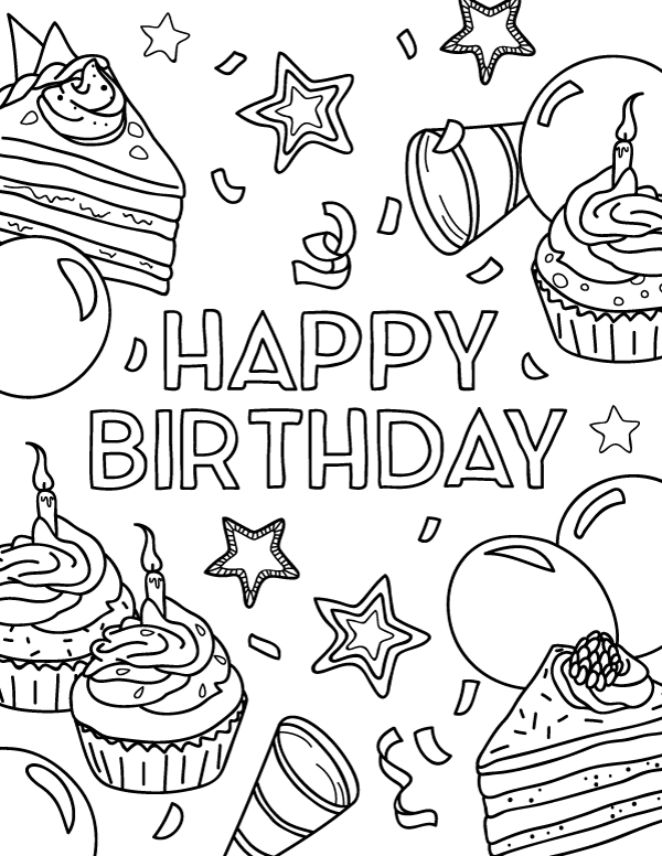 40th birthday coloring pages 30 best birthday images on pinterest 40 birthday 40th coloring birthday pages 40th