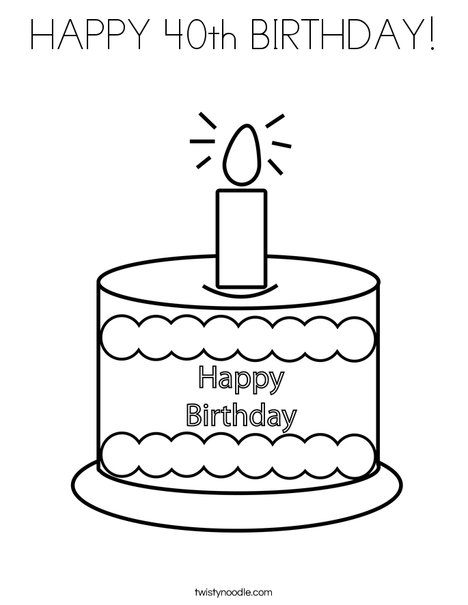 40th birthday coloring pages 9 happy 40th birthday coloring pages free printable 40th coloring birthday pages