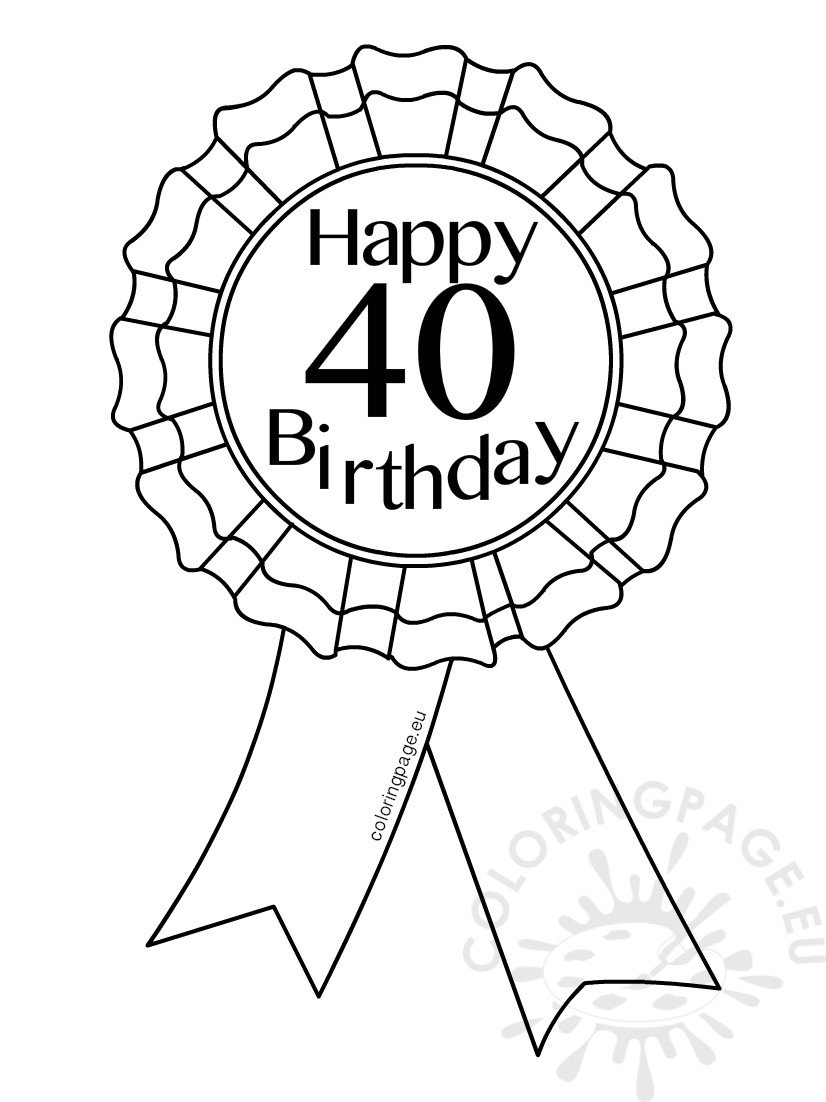 40th birthday coloring pages happy 40th birthday coloring page twisty noodle birthday coloring 40th pages