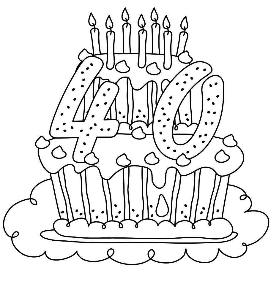 40th birthday coloring pages printable award ribbon 40 birthday coloring page 40th birthday pages coloring
