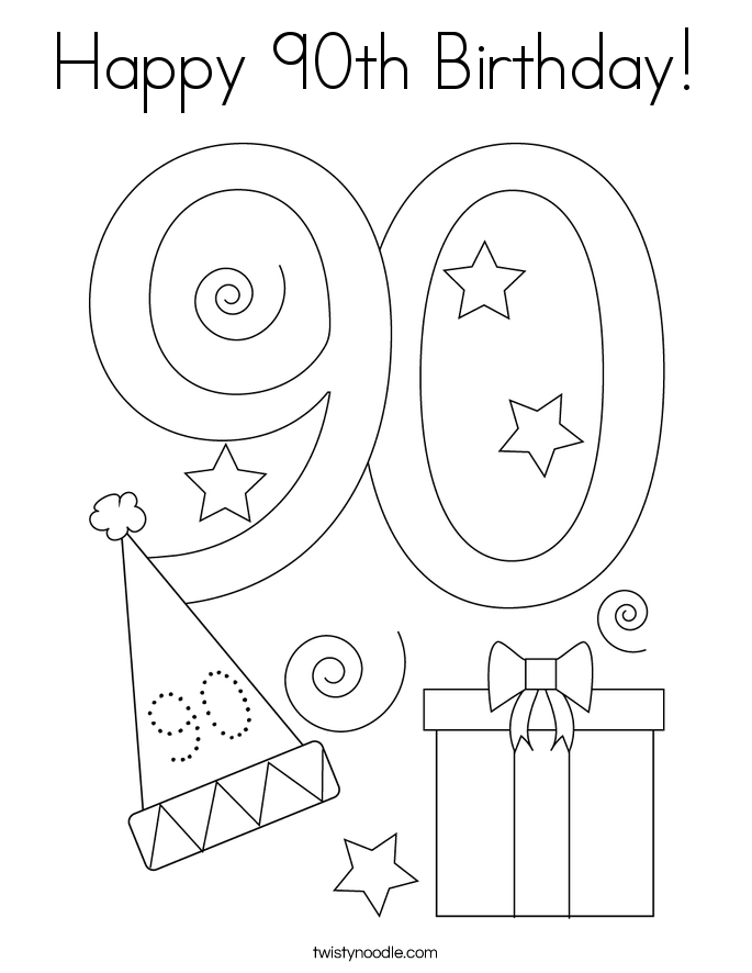 90s coloring sheets happy 90th birthday coloring page twisty noodle 90s coloring sheets