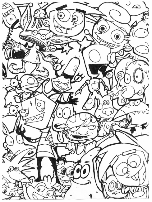 90s nickelodeon coloring pages 90s cartoons coloring pages coloring home nickelodeon coloring 90s pages